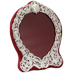 Large Victorian Sterling Silver Heart-Form Picture Frame
