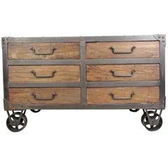 Industrial Style Six-Drawer Dresser