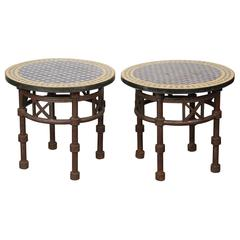 Pair of Side Moroccan Mosaic Tables