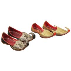 Vintage Male Wedding Leather Embroidered Slippers