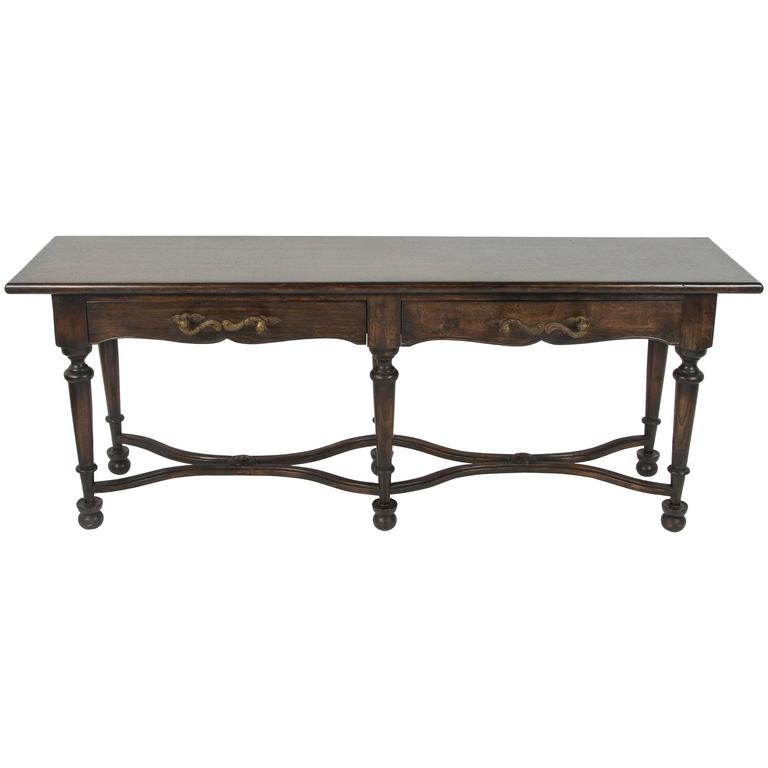 Console with Wrought Iron Handles For Sale