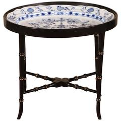 Blue and White Meissen Tray Table
