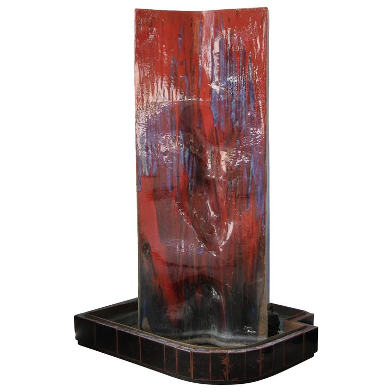 Monumental Artist Made Ceramic Fountain