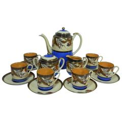 Dragonware 17-Piece Demitasse Coffee or Chocolate Set Made in Japan