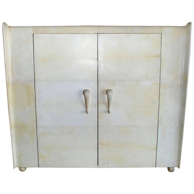 French Art Deco Style Parchment Armoire