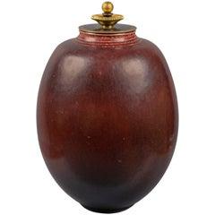 Jar with Lid by Kresten Bloch for Royal Copenhagen, Denmark, 1957