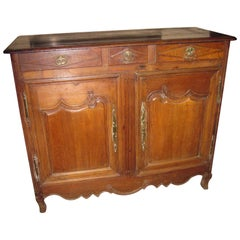 18th Century French Provincial Walnut Sideboard Server