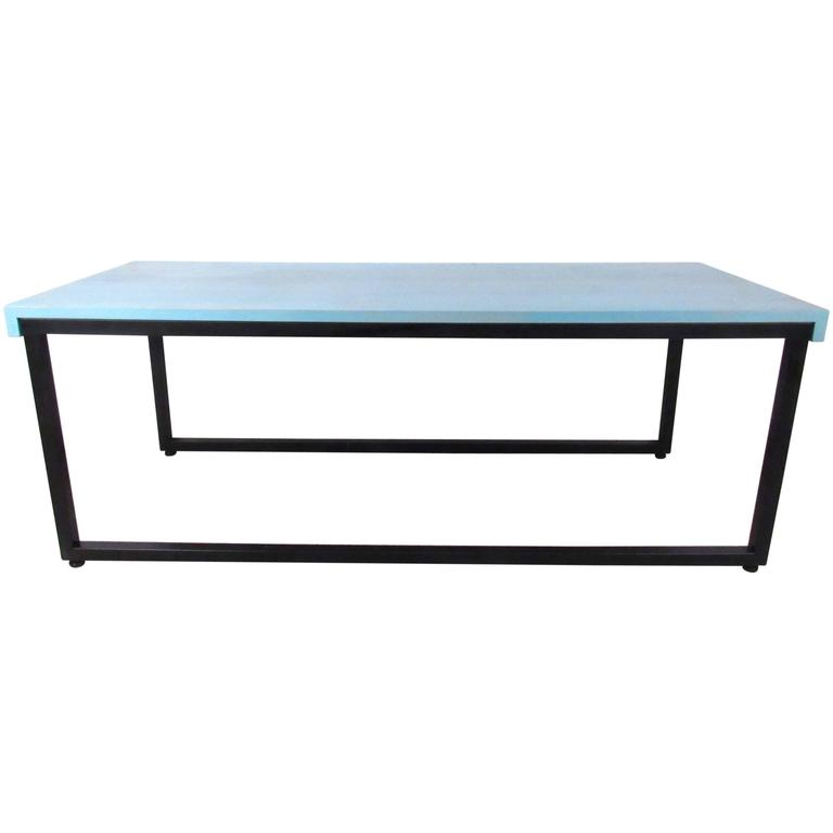 midcentury modern sled leg cocktail table by knoll 1