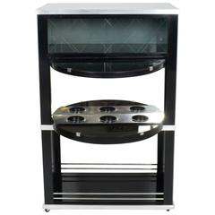 1930s Art Deco Bar Cabinet with Mirrors