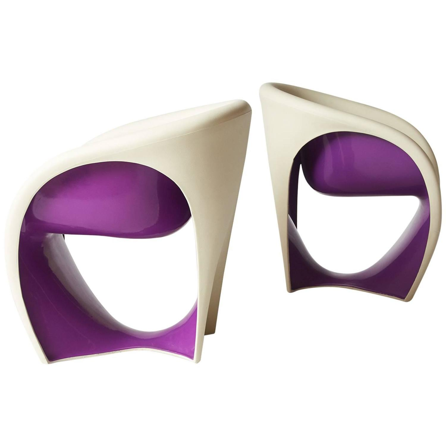 Pair Of Mt 1 Lounge Chairs By Ron Arad For Sale At 1stdibs
