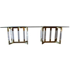 Polished Brass Console in the Style of Charles Hollis Jones