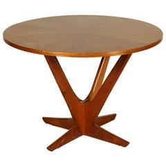 Elegant Coffee Table by Soren Georg Jensen for Kubus Denmark, Teak Maple, 1960s