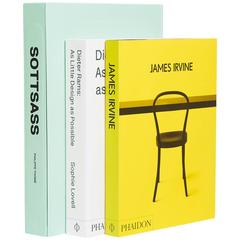 """Masters of Design Book Collection, """"Ettore Sottsass, James Irvine, Dieter Rams"""""""