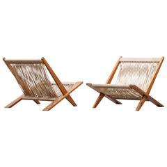 Set of Poul Kjaerholm and Jorgen Hoj Easy Chairs