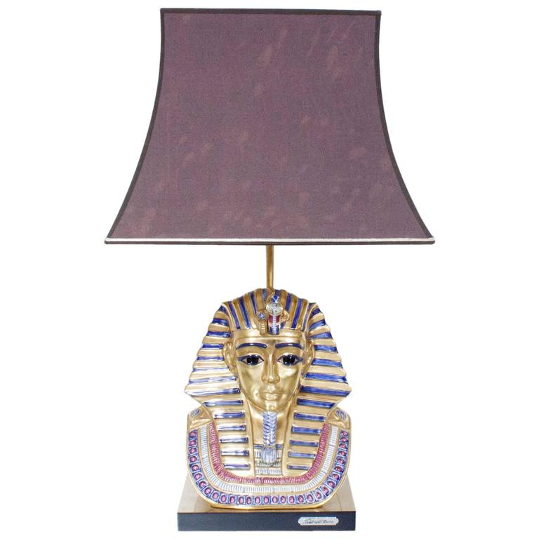 1970s Edoardo Tasca Egyptian Pharoh Table Lamp At 1stdibs
