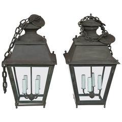 Antique 19th Century Zinc French Lantern