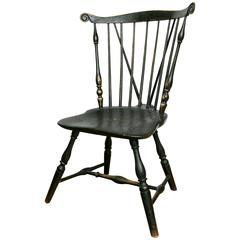 19th Century Pennsylvania Fan-Back Brace-Back Windsor Side Chair
