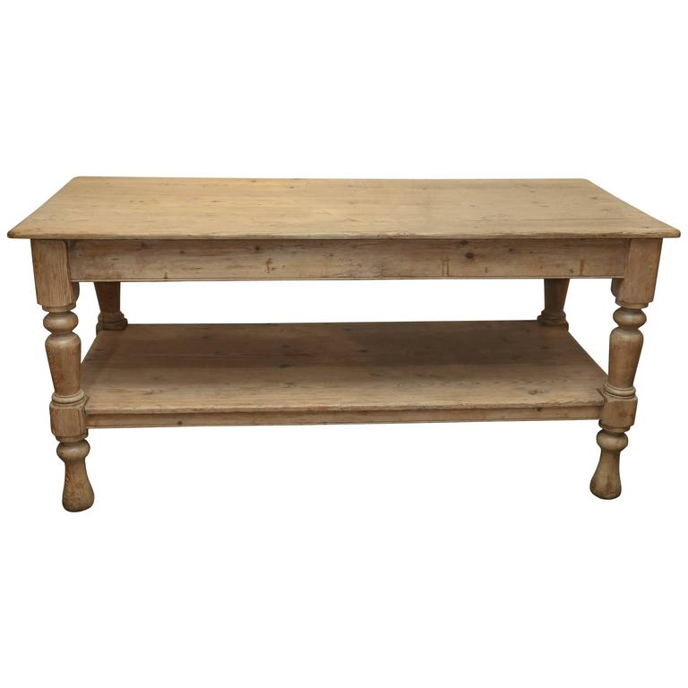 Antique Large 19th Century Pine Kitchen Work Table At 1stdibs