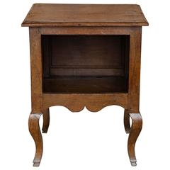 Antique 18th Century Small Walnut Bedside Table