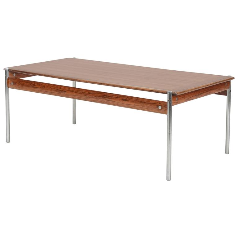 Sven Ivar Dysthe Rosewood Coffee Table Model 1001, 1959