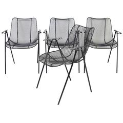 Set of Four Russell Woodard Patio Armchairs