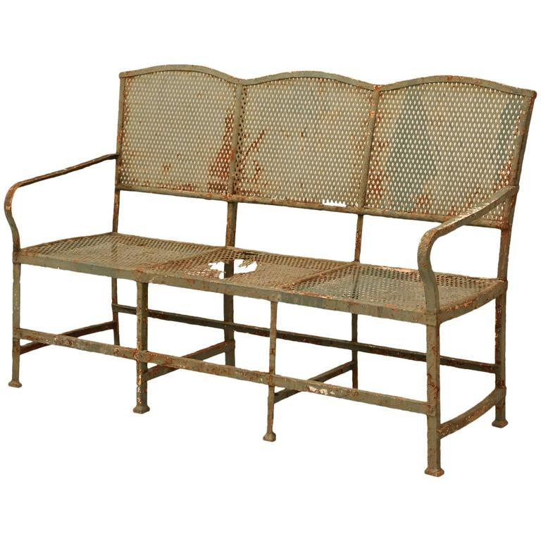 Antique French Garden Bench For Sale