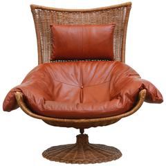 Gerard Van Den Berg Leather Lounge Chair for Montis