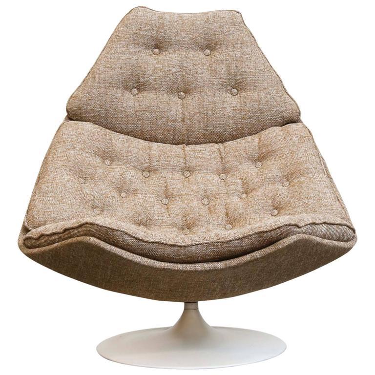 geoffrey harcourt f588 swivel lounge chair for artifort at 1stdibs. Black Bedroom Furniture Sets. Home Design Ideas