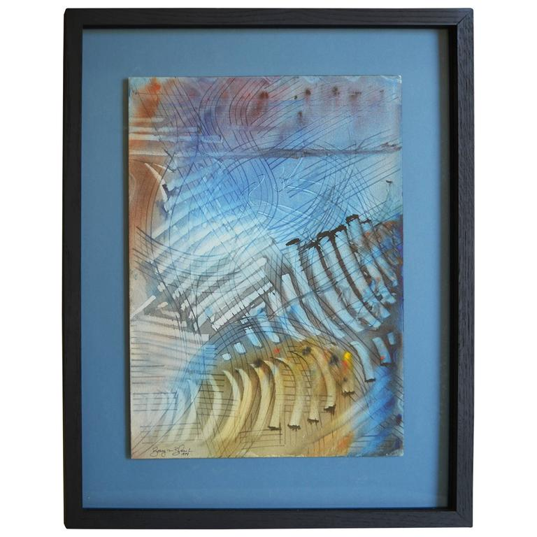 Rhythmic Abstract Watercolor by Barry Bleach