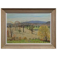 Emile Walters Hudson Valley Pastoral Landscape Painting