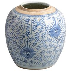 Late 18th Century Blue and White Porcelain Jar