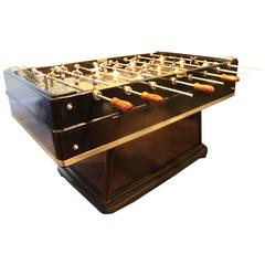 Mid Century Modern Large Black Foosball Table