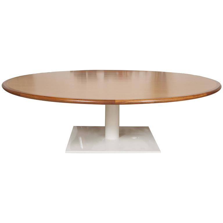 Unique Monumental Eight Foot Diameter Warren Platner Conference Table