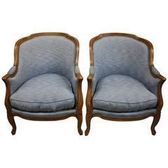 Pair of French Bergeres in Louis XV Style