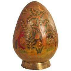 Sergio Bustamante Egg Sculpture