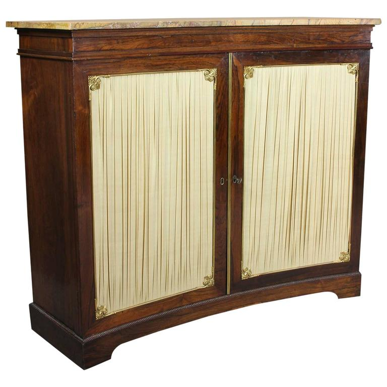 Regency Rosewood and Brass-Mounted Credenza