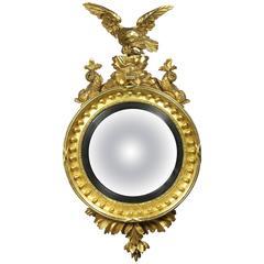 Regency Giltwood Girondole Mirror