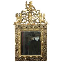 Louis XIV Baroque Giltwood Mirror