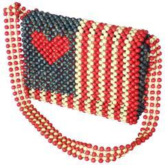 American Flag Themed Playboy Club Beaded Purse