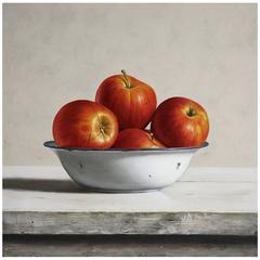 Red Apples Painting by Stefaan Eyckmans