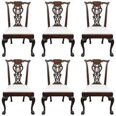 Fine Set of Six George III Mahogany Dining Chairs