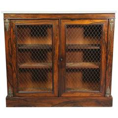 Regency Rosewood and Bronze-Mounted Credenza