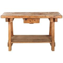 Rustic Antique French Carpenter's Work Bench