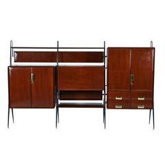 Silvio Cavatorta Wall Unit and Bar