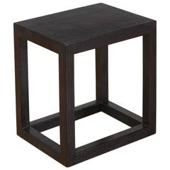Karl Springer Black Lizard Parsons Side Table