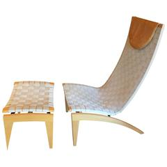 Cornett Easy Chair and Ottoman by Pettersson and Norman