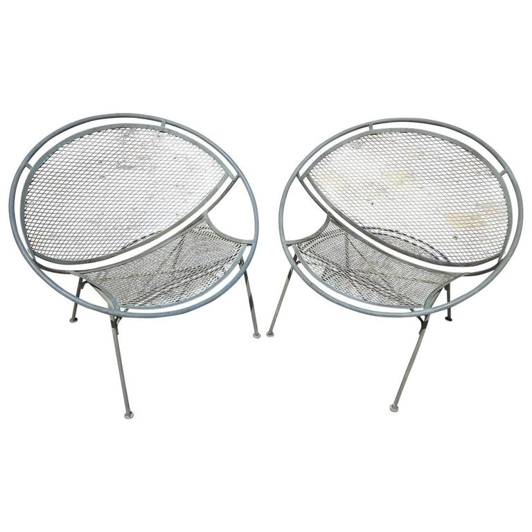 Iron Hoop Chairs by Maurizio Tempestino for Salterini For Sale