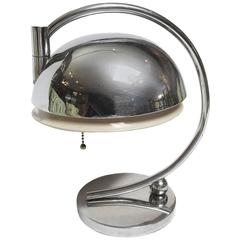 Art Deco Chrome Table Lamp by Gilbert Rohde