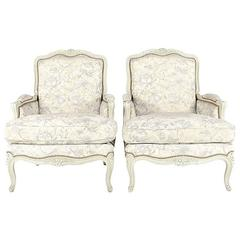 Classic French Louis XV Bergere Armchairs from France