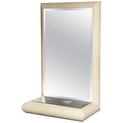 Springer Style Mirror Console in Faux Lizard
